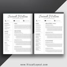 Resume Template The Sarah Resume Instant Download Visuallayout Com