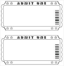Free Ticket Template Printable Printable Ticket Template Blank