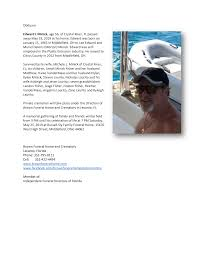Obituary Edward L Minick, age 56, of Crystal River, FL passed away May 19,  2019 at his home. Edward was born on January 15, 1963