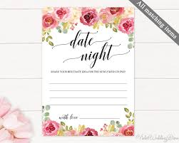 date night invitation template burgundy date night card template printable date night idea card