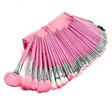 professional big pink 48 piece makeup brush set