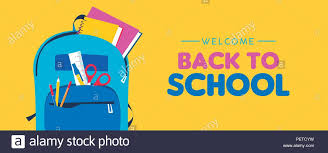 Back To School Web Banner Colorful Kid Backpack