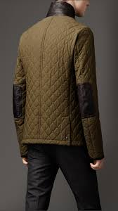 Lyst - Burberry Waxed Cotton Quilted Jacket in Green for Men & Gallery Adamdwight.com