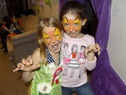 face painting for kids in this case they are two leopards