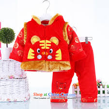 new year infant children of both es tang dynasty kits for winter thick jacket baby