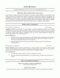 Property Manager Resume Pertaining To Property Management Resume