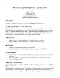 Wonderful Looking Chemical Engineer Resume 15 Sales Mechanical ...