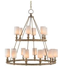 shown in textured gold finish and white linen shade