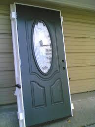 5 of 10 new elegant home 36 x80 fiberglass exterior door w oval glass