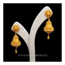 Madrasi Gold Jhumka Designs Gold Jhumka Designs With Weight And Price Gold Earrings