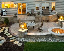 Small Picture Five Makeover Ideas For Your Patio Area Fire pit patio Stone