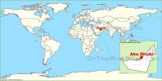 abu dhabi on the world map