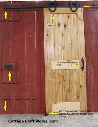 USA sliding barn door hardware, for up to 6' openings