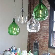 oversized glass pendant lamp