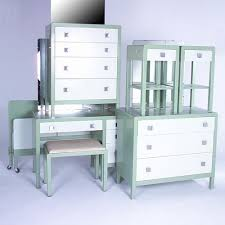 simmons metal furniture. norman bel geddessimmons enameled metal bedroom furniture suite consisting of a vanity and two chests all with chrome pulls attached mirror simmons n
