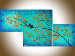 office wall hangings. evening chat 2 by qiqigallery original abstract love birds modern wall painting dcor hangings office art for sale artist
