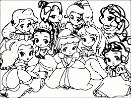 Enjoy coloring this disney coloring worksheet with our coloring machine! Disney Baby Princess Coloring Pages Coloring Home