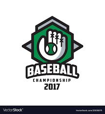 Baseball Championship 2017 Logo Design Element