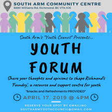 South Arm Community Centre Youth Forum Foundry Where
