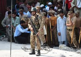 actually is winning its war on terror foreign policy a i army ier stands guard on the rubble of collapsed building at a suicide bomb
