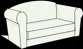 couch clipart black and white panda free images px