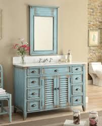 Distressed Bathroom Cabinet 46 Distressed Blue Abbeville Bathroom Sink Vanity Cf28885bu