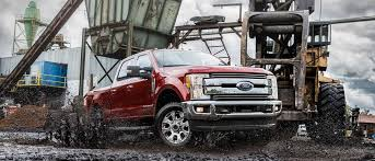 2019 ford super duty on work site