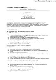 Sample Resume For Programmer Free Resume Example And Writing