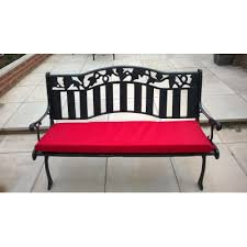 water resistant outdoor bench seat pad red