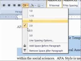 Apa Line Spacing Dr Dan Formatting Line Spacing In Apa Style