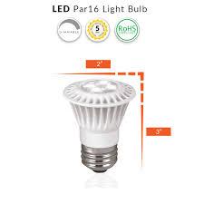 Par16 Light Led 7 Watt Dimmable 35w Replacement Par16 Light Bulb 4100k 40 Degree Beam 120 Volt