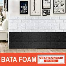 Wallpaper 3D Brick Foam Motif Batu Bata ...