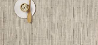 chilewich  table  placemats  runners  bamboo  oat (rectangle)