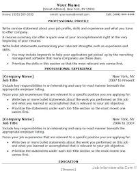 Template For Professional Resume In Word Resume Sample