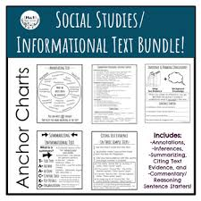 Social Studies Informational Text Anchor Chart Bundle By
