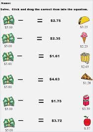 Ideas About Free Printable Money Math Worksheets Bridal Catalog ...
