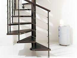 Square spiral staircase / wooden steps / metal frame / without risers  SCENIK : 040 FONTANOT ...