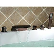 bronze bathtub faucet oil rubbed bronze finish antique waterfall