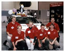 teamwork lifelong learning inspire alumna s career path college jenny topinka center her futurecar teammates during her time as a mechanical engineering