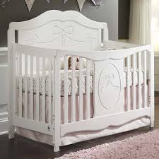 storkcraft 2 piece nursery set princess 4 in 1 fixed side convertible crib and aspen changing table in white free