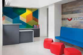 office backdrop. Bold And Bright Therapy Office | Remodeling Awards, Commercial Remodeling, Lighting, Daylighting, Design, Sherwin-Williams Backdrop T