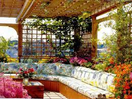 flower garden design. Rooftop Flower Garden Design Ideas Mediterranean Style 1836