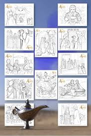 Top printable disney coloring sheets. Free Printable Aladdin Coloring Pages Coloring For The Whole Family