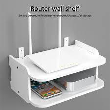 wall mount storage tv box router shelf