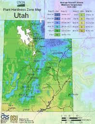 Plant Hardiness Zone Chart Usda Plant Hardiness Zone Map For Utah