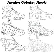 Free Printable Jordan Shoes Coloring Pages Coloring Pages Sneaker