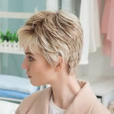Goede Koop Blonde Eenhoorn 8 Inch Korte Haar Pruik Multi Gelaagde