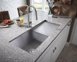 white undermount sink with drainboard ideas