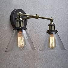 industrial bathroom lighting. claxy ecopower simplicity industrial edison antique glass 2light wall sconces fixture bathroom lighting e