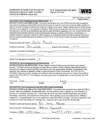 Types Of Medical Certifications Ct Fmla Medical Certification New Fmla Form Annual Leave Form Sample